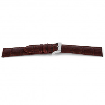 Cinturino orologio in vera pelle di coccodrillo, marrone, 14mm EX-G62