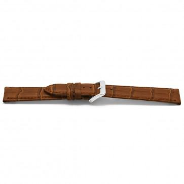 Cinturino orologio in pelle di coccodrillo, marrone, 14mm EX-D349