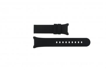 Boccia cinturino dell'orologio 3782-01 / 3521-01 / 3528-01 / 3783-03 Silicone Nero 27mm