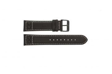 Swiss Military Hanowa cinturino dell'orologio  06-4181.13.007.05 Pelle Marrone 19mm + cuciture bianco