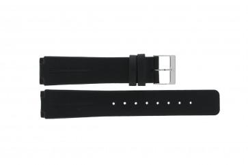 Skagen cinturino dell'orologio 433LSLB Pelle Nero 20mm