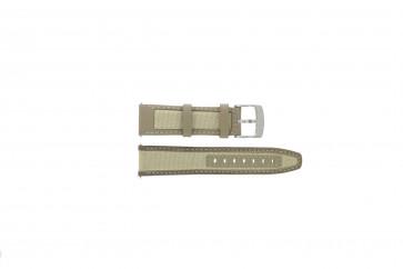 Camel cinturino orologio 6720-6729 / 6760-6769 Pelle Marrone chiaro 22mm + cuciture bianco