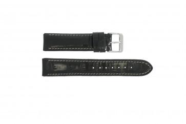 Cinturino orologio in vera pelle di coccodrillo, nero WP-61324, 18mm