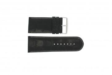 Cinturino orologio in vera pelle di coccodrillo, nero WP-61324, 32mm