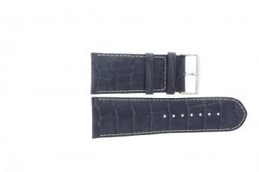 Cinturino orologio in vera pelle di coccodrillo, blu scuro WP-61324, 36mm