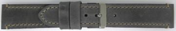 Cinturino per orologio Universale 819.07.22 Pelle Grigio 22mm