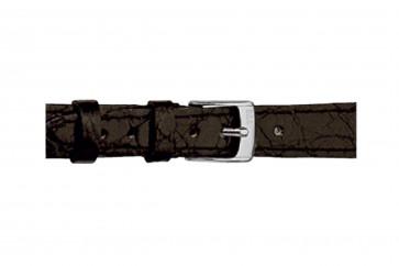 Morellato cinturino dell'orologio Classico Cucito D2213052019DO08 / PMD019CLSCCU08 Pelle di coccodrillo Nero 8mm + cuciture di default