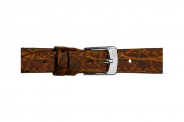 Morellato cinturino dell'orologio Classico Cucito D2213052034DO08 / PMD034CLSCCU08 Pelle di coccodrillo Marrone scuro 8mm + cuciture di default