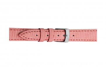 Morellato cinturino dell'orologio Violino Gen.Lizard X2053372287CR10 / PMX287VIOLIN10 In pelle di lucertola Rosa 10mm + cuciture di default