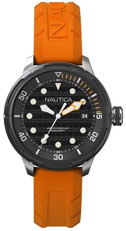 Cinturino per orologio Nautica A16598G Gomma Arancione 22mm