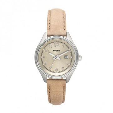 Cinturino per orologio Fossil AM4377 Pelle Beige 22mm