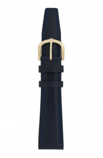 Davis cinturino dell'orologio B0089 Pelle Blu 16mm