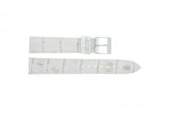Davis cinturino dell'orologio B0206 Pelle Bianco crema / Beige 18mm