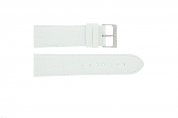 Cinturino per orologio Davis BB0911 Pelle Bianco 24mm