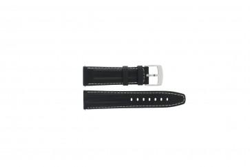 Cinturino per orologio Camel BC50975 / 6522-6529 / 6580-6589 / 6600 Pelle Nero 22mm