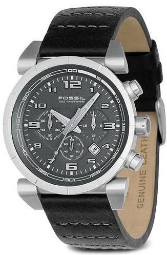 Cinturino per orologio Fossil CH2494 Pelle Nero 22mm