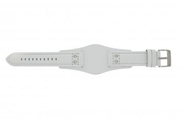 Fossil cinturino orologio CH2592 Pelle Bianco 22mm