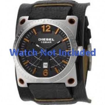 Diesel cinturino dell'orologio DZ1212 Pelle Nero 28mm + cuciture di default