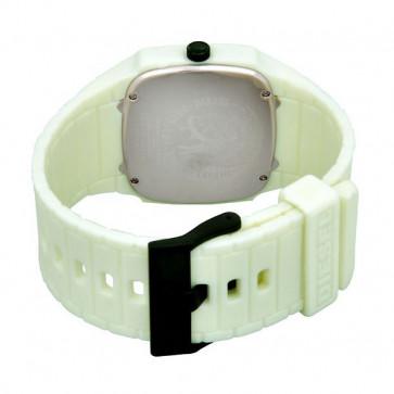 Diesel cinturino dell'orologio DZ1327 Silicone Bianco 28mm