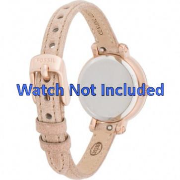 Cinturino per orologio Fossil ES3139 Pelle Beige 8mm