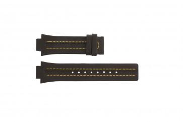 Festina cinturino dell'orologio F16224-7 Pelle Marrone 14mm + cuciture giallo