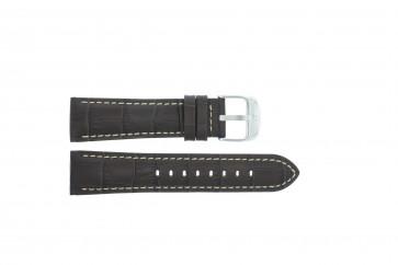 Festina cinturino orologio F16486/2 Pelle Marrone scuro 23mm + cuciture bianco