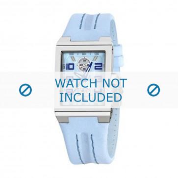 Festina cinturino dell'orologio F16224-1 Pelle Blu 14mm + cuciture di default