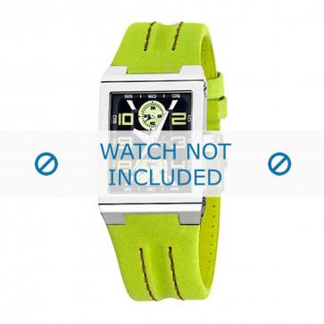 Festina cinturino dell'orologio F16224-3 Pelle Verde 14mm + cuciture di default