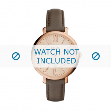 Cinturino per orologio Fossil ES3707 Pelle Grigio 14mm