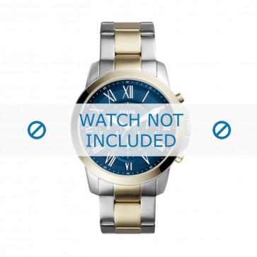 Fossil cinturino dell'orologio FS5273 Metallo Argento 18mm