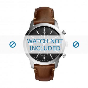 Fossil cinturino dell'orologio FS5280 Pelle Marrone 22mm + cuciture marrone