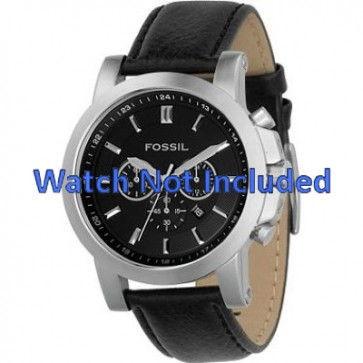 Cinturino per orologio Fossil FS4247 Pelle Nero 22mm
