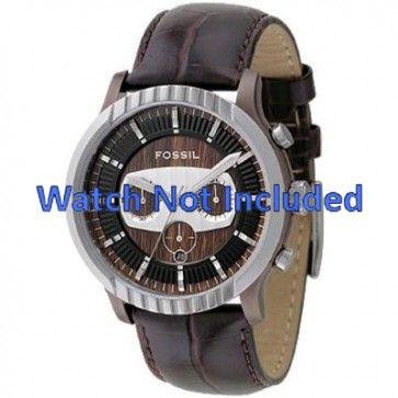 Cinturino per orologio Fossil FS4441 Pelle Marrone 27mm