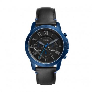 Cinturino per orologio Fossil FS5342 Pelle Nero 22mm