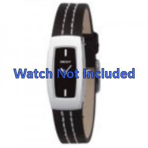 Cinturino per orologio DKNY NY3296 Pelle Nero 15mm