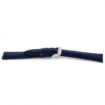 Cinturino per orologio Universale H626 Pelle Blu 22mm
