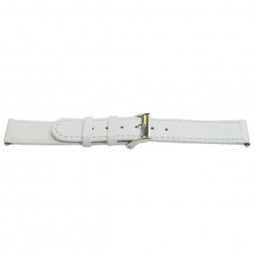 Cinturino a fascia in vera pelle, bianco, 22mm