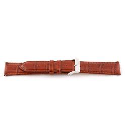 Cinturino orologio in vera pelle, marrone cognac, 16mm EX-G62