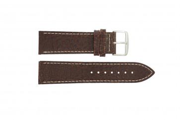 Cinturino dell'orologio I320 Pelle Marrone 24mm + cuciture bianco