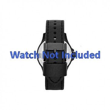 Cinturino per orologio Fossil JR1448 Pelle Nero 22mm