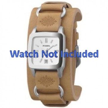 Cinturino per orologio Fossil JR8300 Pelle Marrone 16mm