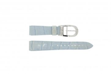 Cinturino per orologio WoW LEDER-BLAUW-18 Pelle Blu 18mm