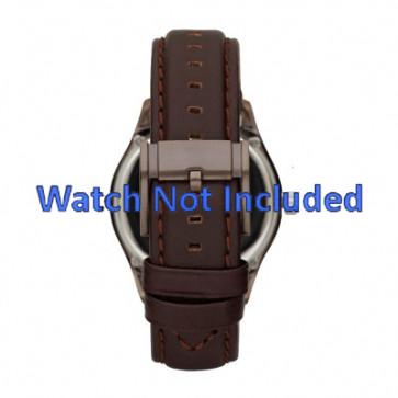 Fossil cinturino dell'orologio ME1123 Pelle Marrone scuro 22mm + cuciture di default