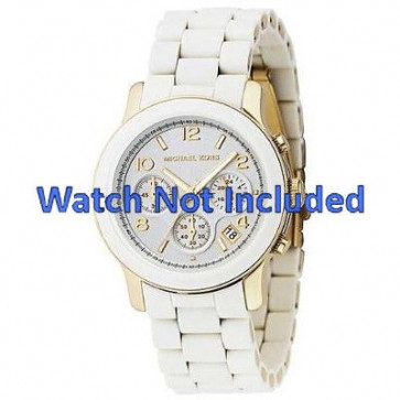 Cinturino per orologio Michael Kors MK5145 Acciaio Bianco 20mm