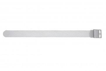 Cinturino orologio perlon, 20mm, bianco