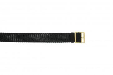 Cinturino orologio perlon, 14mm, nero