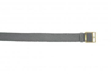 Cinturino orologio perlon, 20mm, grigio