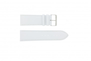 Cinturino orologio in vera pelle, bianco, 30mm