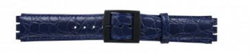 Cinturino per orologio Swatch SC10.05 Pelle Blu 17mm