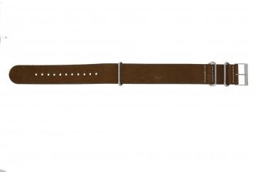NATO cinturino dell'orologio UH14 Pelle Marrone 22mm